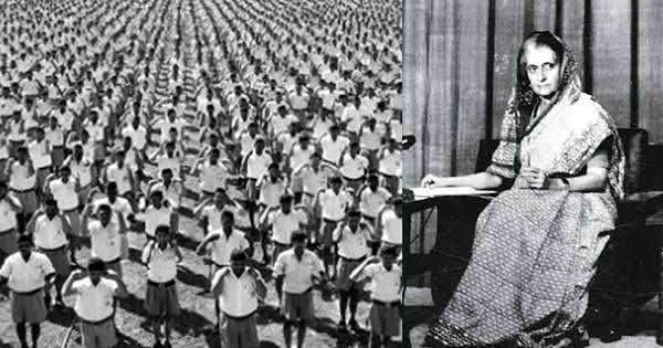 What Foreign Press had to say about RSS' role during Emergency?